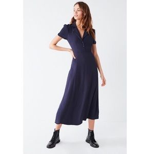 Urban Outfitters Charlotte maxi dress in navy blue